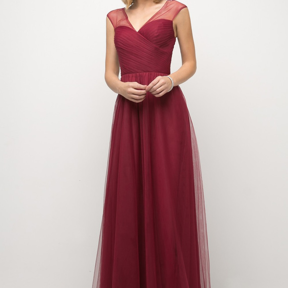 Cinderella's Closet Dresses & Skirts - Burgundy A-Line Bridesmaid Long Dress